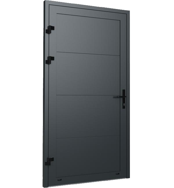 Jednoskrzydłowe boczne drzwi garażowe Krispol