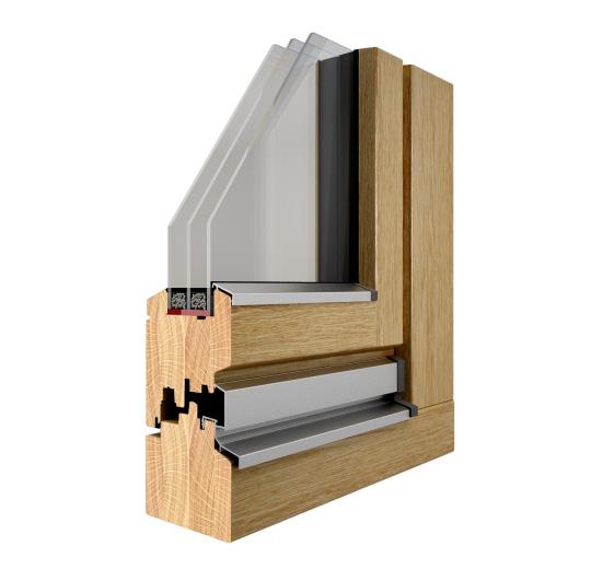 Okna drewniane Pozbud Line 93