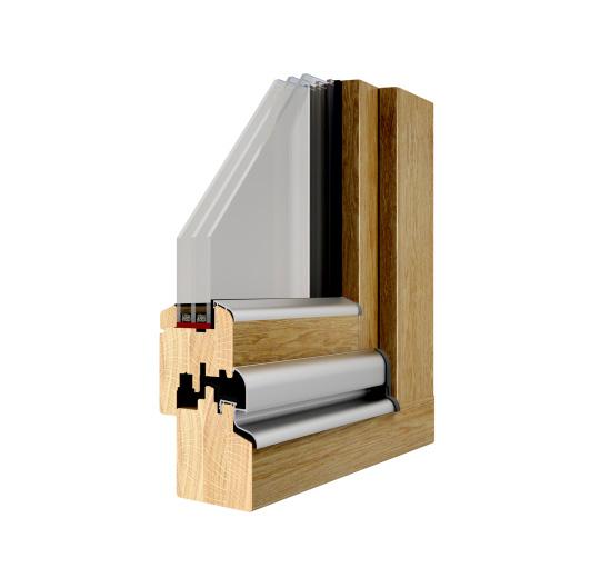 Okno drewniane Pozbud Standard 68