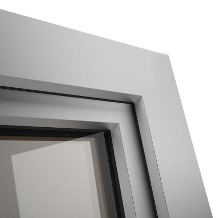 Okno POZBUD GEMINI nakładka aluminiowa Classic O5