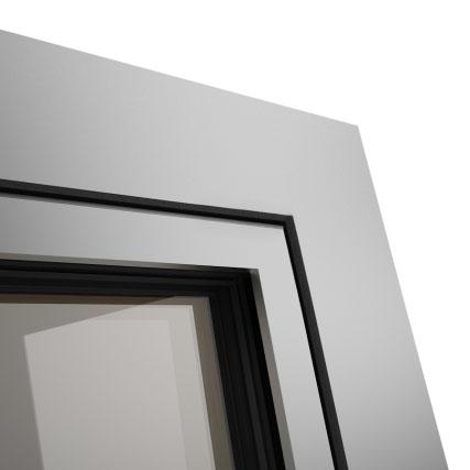 Okno POZBUD GEMINI nakładka aluminiowa Quadrat FB