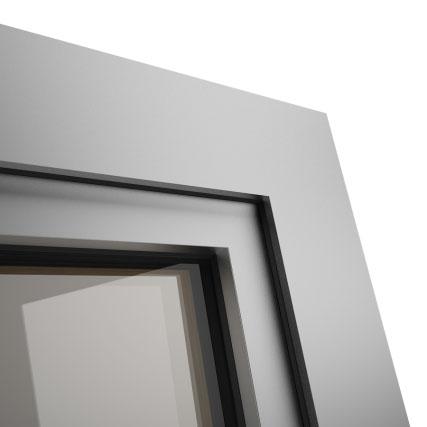 Okno POZBUD GEMINI nakładka aluminiowa Quadrat
